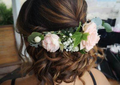 chignon bridal hair