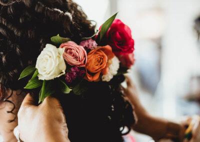 prepartaion coiffure mariée